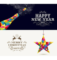 Happy New Year and Merry Christmas holidays vector image