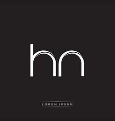 Hn initial letter split lowercase logo modern vector