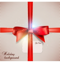 Holiday banner with ribbons background vector