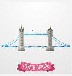 Ikon tower bridge pada latar belakang putih vector