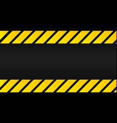 industrial yellow lines on a black background vector image