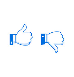 like and dislike icons set thumbs up and thumbs vector image