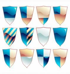 medieval shield set vector image