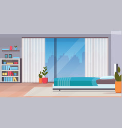 modern home bedroom interior design contemporary vector image