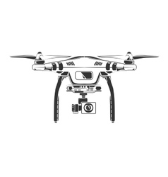 Monochrome picture of drone top view vector