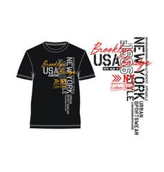 new york brooklyn for t shirt typography slogan vector image