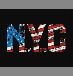 New york city t-shirt and apparel design with vector