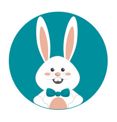 Nice happy rabbit cartoon design vector