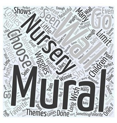 Nursery wall murals Word Cloud Concept vector