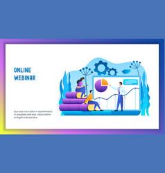 online webinar concept vector image