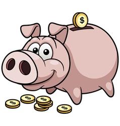 Pig bank vector