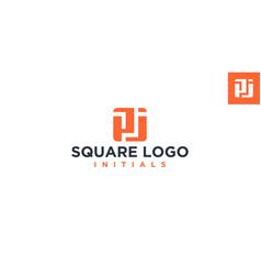 Pj square logo design inspiration vector