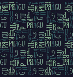 Prague seamless pattern vector