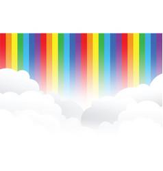 Rainbow cloud background vector