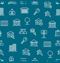 real estate seamless pattern background vector image