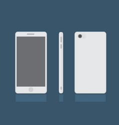 Realistic modern smart phone set mock up vector