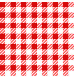 red lumberjack seamless pattern vector image