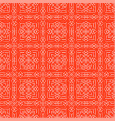 Red ornamental seamless line pattern vector