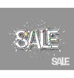 Sale Text Made Trendy Design vector image