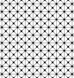 Seamless monochrome grid pattern design vector