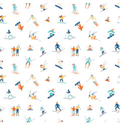 seamless pattern with adults and children vector image
