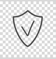 Security assurance icon with tick sign guard vector
