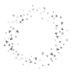 Silver confetti triangle on a white background vector