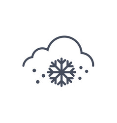 snow weather icon climate forecast concept vector image