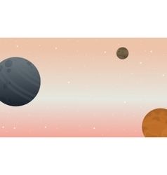 Space landscape backgrunds vector