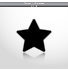 star web flat icon vector image