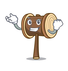 Successful mallet character cartoon style vector