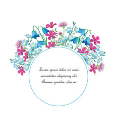 summer floral decorations vector image