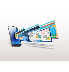Telephone with of template website vector image