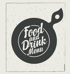 template food and drink menu in retro style vector image