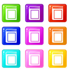 Thick book set 9 vector