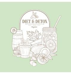 Vintage Sketch Of Diet Food vector image