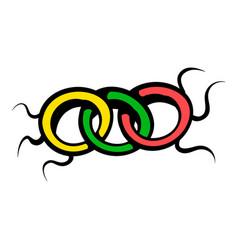 virus icon icon cartoon vector image