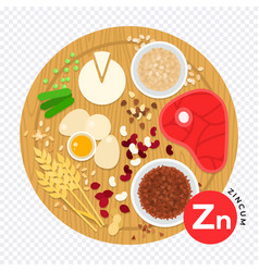 Vitamin zn in flat style vector