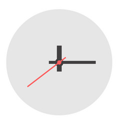 Wall clock without numbers icon flat isolated vector