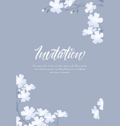 White flowers vector