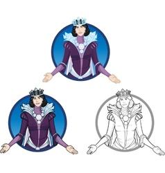 Winter Queen beautiful female character vector