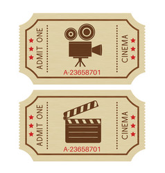cinema tickets old retro styled tickets vector image