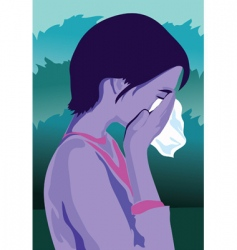 crying vector image vector image