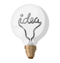 idea lamp concept isolated vector image