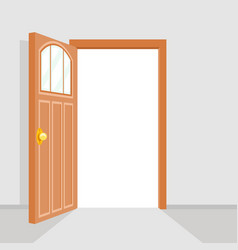 open door house background flat design isolated vector image