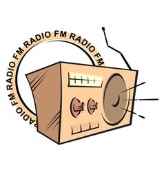 retro radio fm logo vector image vector image
