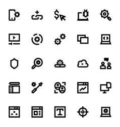 Web Design and Development Icons 2 vector image