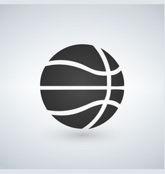 basketball icon black sign on isolated background vector image