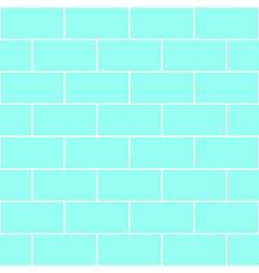 Blue Mint Brick Wall vector image