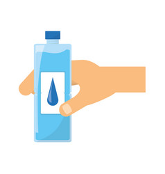 hand with water bottle vector image